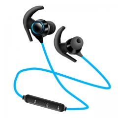 Newest Bluetooth V4.1  with Mic Wireless Earphones Sports IPX4 Headphone Stereo Headset For HUawei blue