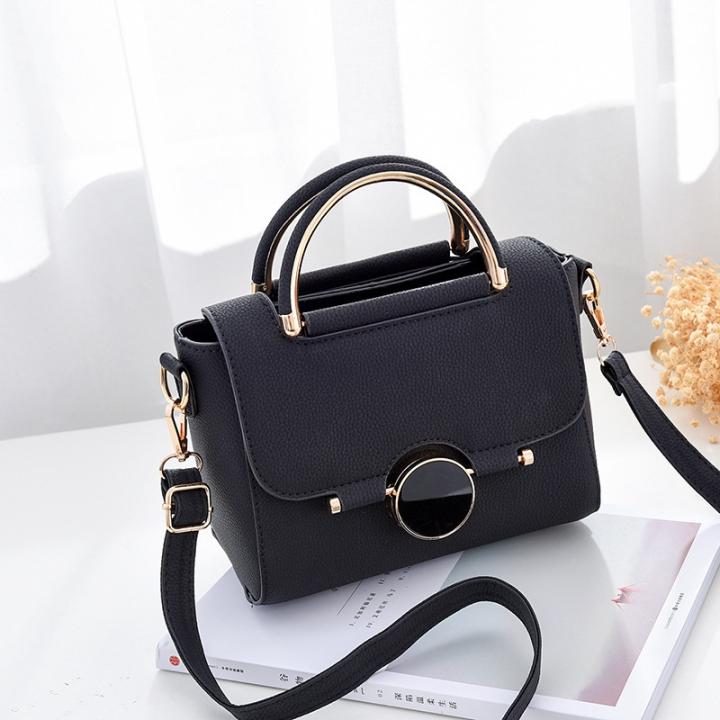 Women's Bag 2018 New Hardware Decoration Fashion Single Shoulder Handbag black 1