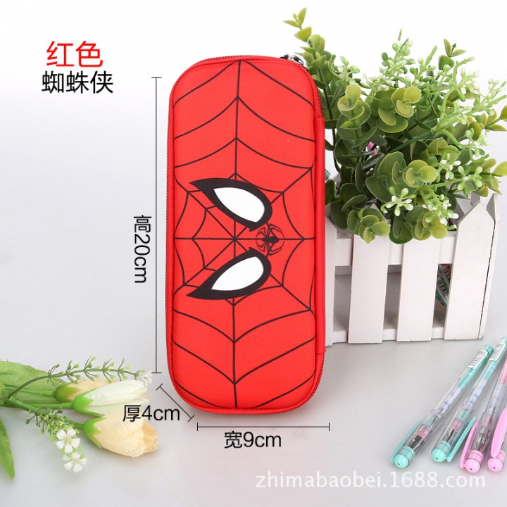 Spider-Man Pencil  Captain USA Stationery Bag 3D Hard Shell Large Capacity Primary School Pencil Box Red Spider-Man 1