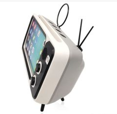 for Creative Pth800 Retro Tv Tv Mobile Phone Bracket Card Wireless Speaker Outdoor Wireless Audio white one