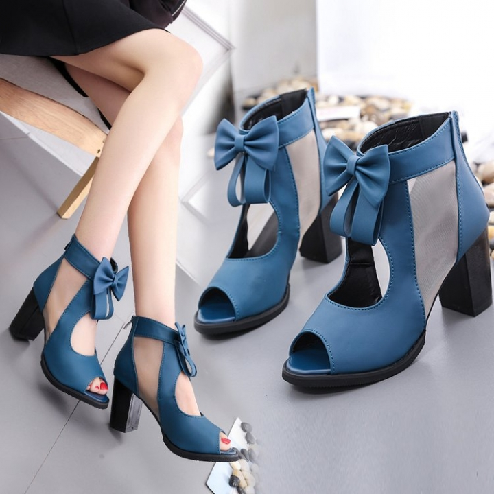 910ce10756f Women shoes bowknot high Heel zipper Sandals New High Heel Shoes ...