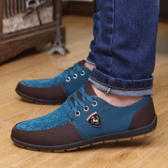Casual Shoes men's canvas shoes for men shoes men fashion Flats Leather suede shoes blue 39