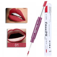 CmaaDu Multi-Function Double Head Lipstick + Lip Liner Matte Lip Gloss 01