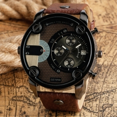 DZ Men's Fashion Wristwatches Casual Creative Outdoors Sports Wristwatch Quartz Watches brown