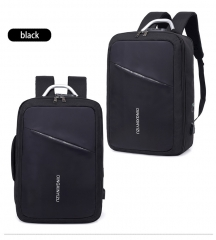DINDODI Double Shoulder Men's Backpack Large Capacity USB Interface Business Casual Sports Bag black 26 inches