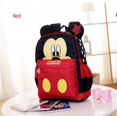 New Cartoon Lovely Mickey Minnie Kids Kindergarten Backpack Children School Bags red one size
