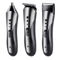 KEMEI Multi-function Hair Electric Clipper Shaver Beard Face Eyebrows Shaving Nose Hair Safe Shaver black one size
