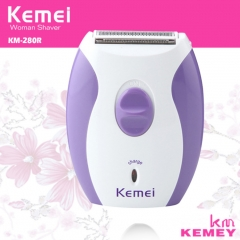 KEMEI Rechargeable Women's Epilator Electric Shaver Razor Face Body Hair Removal Lady Shave Machine