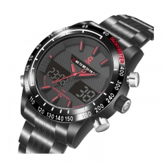 JEISO Creative Fashion Multi-Functional Sport Watch 3D High Quality Waterproof Watch red