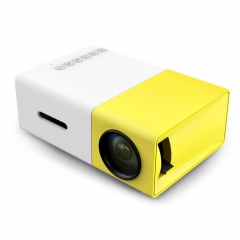 YG300 Projector Mini Micro Entertainment Portable Home Theatre LED projector white+yellow one size
