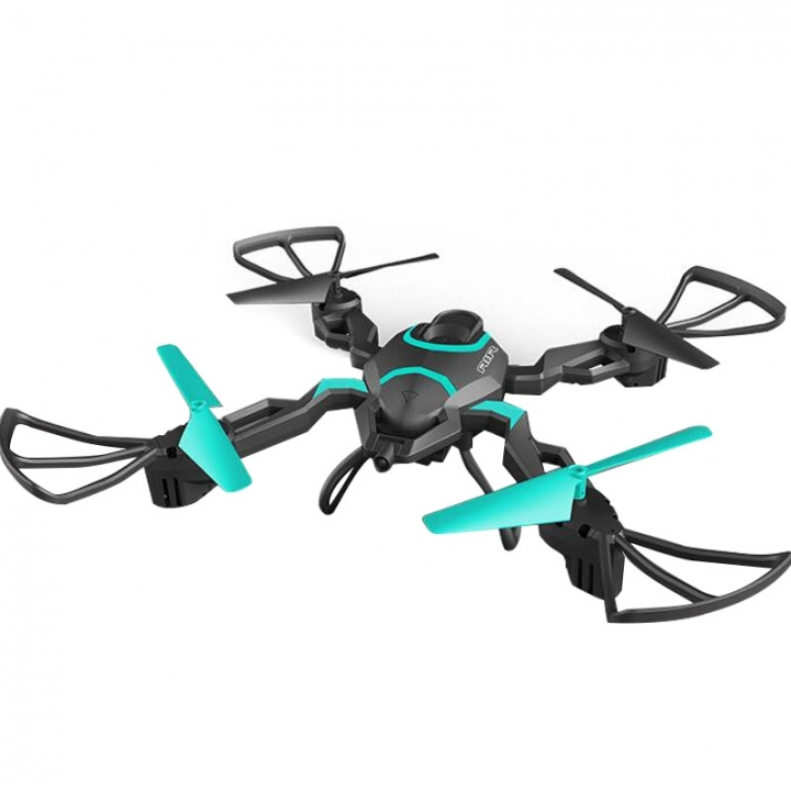 Folding Remote Control Quadcopter HD WIFI Aerial Pressure High Altitude Remote Control Drone Toy black + green one size