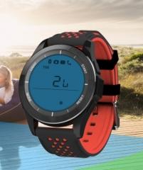 Smart bluetooth watch bracelet luminous waterproof UV 30 meters waterproof sport smartwatches black red