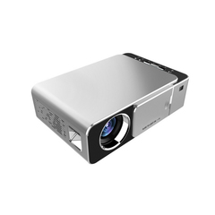 2019 New T6 Home Cinema HD Projector LED Mini Portable Projector Theater Game projector silver black as picture