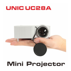 UNIC UC28A Home HD Mini Projector Micro Portable  Projector Cinema Theater Projector white as picture