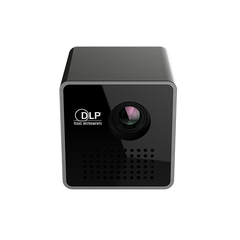 UNIC P1+ Mini Portable Projector HD Home Projector Support Mobile Phone WiFi black as picture