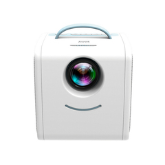 2019 New Mini Q2 Home Children Projector Portable Support HD 1080P Projector Home Theater blue-white one size