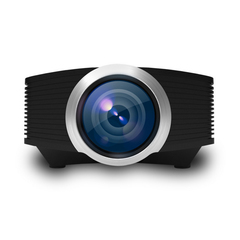 New YG500 Mini Home LED HD 1080P Projector Cinema Theater Portable Projector black one size