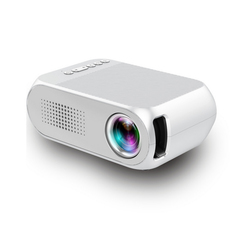 2019 New Projector YG320 Home Micro HD 1080P LED Mini Portable Projector white one size