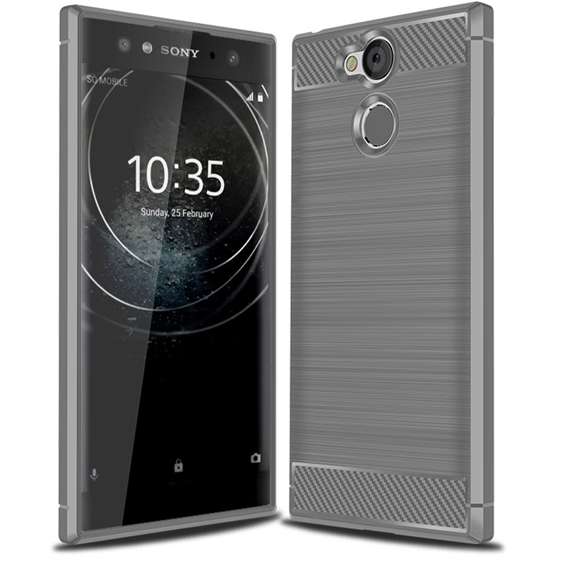 finest selection eaf64 e48b7 Shinwo Sony Xperia XA2 Ultra Smartphone Rugged Armor Carbon Fiber TPU Shock  Proof Protective Case black for Sony Xperia XA2 Ultra