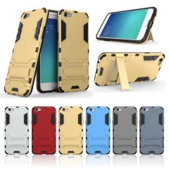 OPPO F3 Iron Man Armor Phone Case 2 in 1 Stand Anti-fall Cover Case as picture for OPPO F3