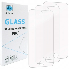 [3-Pack]- Shinwo for iPhone SE / iPhone 5 / 5S / iPhone 5C [Tempered Glass] Screen Protector