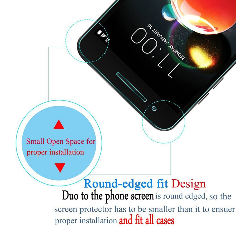 [2-Pack] - Huawei Y5 2018 / Y5 Prime 2018 Smartphone [9H Tempered Glass]  Screen Protector