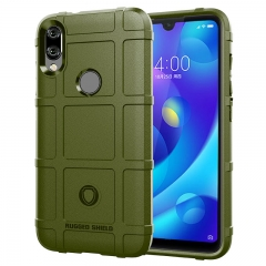 Hot Sale Xiaomi Mi Play Smartphone Rugged Shield Silicone Heavy Duty Armor Shock-Proof Phone Case Brown for Xiaomi Mi Play Smartphone