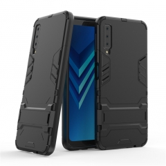 Shinwo Samsung Galaxy A7 2018 Smartphone Case Rugged Armor [Drop-protection] with Kickstand sliver for Samsung Galaxy A7 2018 Smartphone