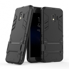 Shinwo Samsung Galaxy J2 Core Smartphone Case Rugged Armor [Drop-protection] with Kickstand black for Samsung Galaxy J2 Core Smartphone