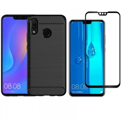Hot Sale Shinwo [1-Pack] Huawei Y9 2019 Phone Case + Y9 2019 [Tempered Glass] Screen Protector blue for  Huawei Y9 2019 / Enjoy 9 Plus