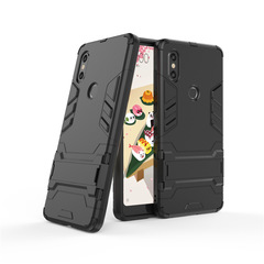 Xiaomi Mi Mix 2S Smartphone Case Rugged Armor [Drop-protection] with Kickstand black for Xiaomi Mi Mix 2S Smartphone