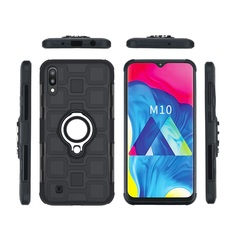 Shinwo - Phone Case for Samsung Galaxy M10 Galaxy A10 with Car Magnetic Ring Holder black for Samsung Galaxy M10