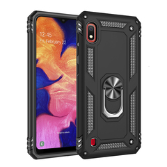 Shinwo - Phone Case for Samsung Galaxy A10 with Car Magnetic Ring Holder black for Samsung Galaxy A10