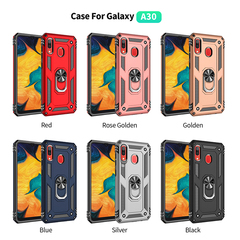 Shinwo - Phone Case for Samsung Galaxy A30 Samsung Galaxy A20 with Car Magnetic Ring Holder red for Samsung Galaxy A30
