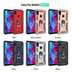 Shinwo - Phone Case for Xiaomi Redmi Note 7 / Note 7 Pro Redmi 7 with Car Magnetic Ring Holder blue for Xiaomi Redmi Note 7