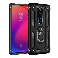 Shinwo - Phone Case for Xiaomi Redmi K20 K20 Pro Mi 9T 9T Pro with Car Magnetic Ring Holder black for Xiaomi Redmi K20