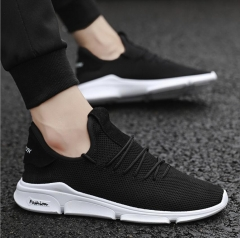 Men's Running Shoes Fashion Breathable Sneakers Mesh Soft Sole Casual Athletic Lightweight Black webbing 39