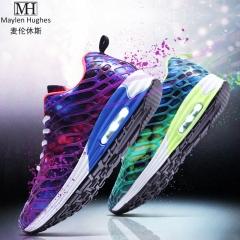 Men's Air Cushion Running Shoes Women Lightweight Sports Sneakers Athletic Outdoor Walking Tennis purple 35