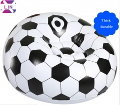 XLIN Brand Fashion Air Sofa, Inflatable Lazy Sofa-----Soccer(Send Foot Pump)