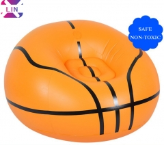 XLIN Brand Fashion Air Sofa, Inflatable Lazy Sofa----- Basketball(Send Foot Pump)