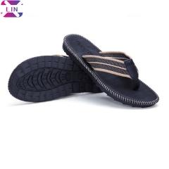 XLIN Men's Classical Flip-Flop Beach Slipper Sandals Comfortable Handmade Fashion Indoor and Outdoor Red trendy flip flops 44