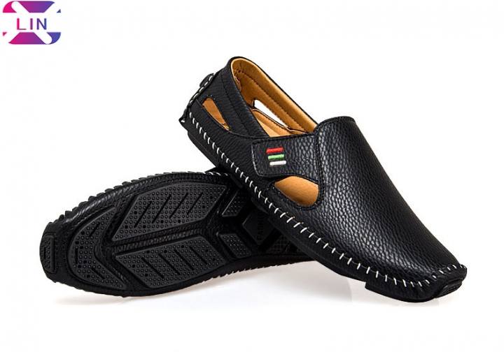 Mens Loafers - Italian Dress Casual Loafers for Men - Slip-on Driving Shoes Black classic loafers 37