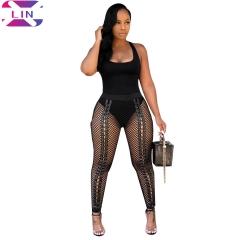 XLIN Ladies Skinny Trousers Black s