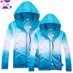 XLIN Fashion Unisex Ultra-Thin Breathable And Quick-Drying Clothes Outdoor Sports Windbreaker blue s
