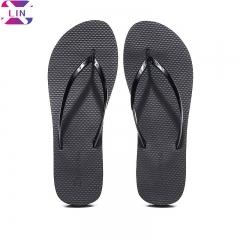 XLIN Fashion Slippers Female Beach Sandals And Slippers Women'S Non-Slip Thin Belt Flip Flops Women BLACK 35/36
