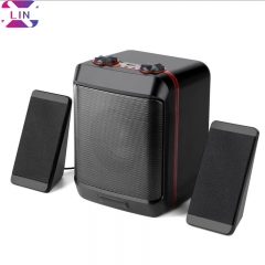 XLIN Fashion S5max Multimedia Audio Desktop Laptop USB Desktop Subwoofer Audio----Black