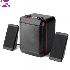 XLIN Fashion S5max Multimedia Audio Desktop Laptop USB Desktop Subwoofer Audio----Black