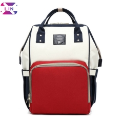 Diaper Bag Multi-Function Waterproof Travel Backpack, Baby Back Pack for Mom by , Best Care for Kids Red blue One piece