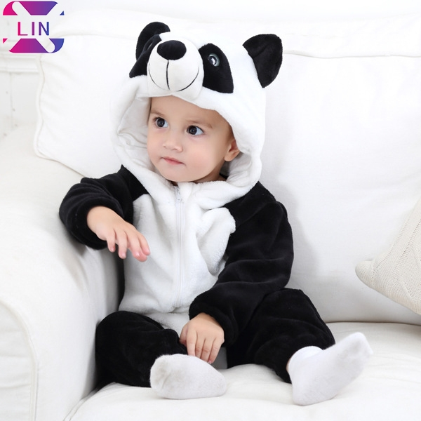 XLIN Unisex-Baby Animal Costume Cartoon Outfit Homewear,Baby Animal Shape Romper Panda 70CM