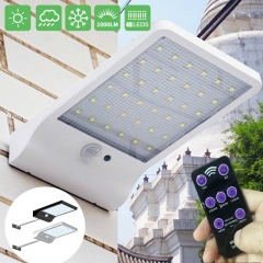 48 LED Solar Powered With remote control Motion Sensor Garden Security Lamp Outdoor Waterproof Light